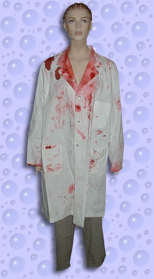 Screen worn lab coat and pants by corbin bernsen in dentist 2